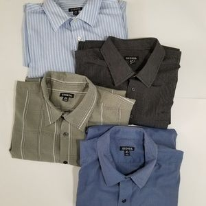 Lot of 4 George XL casual button down shirts